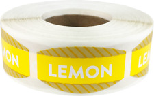 Lemon Grocery Market Stickers, 0.75 x 1.375 Inches, 500 Labels Total