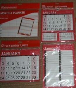 2021 Hanging Wall Calendar Large Month to View -Three Months to View- Engagement