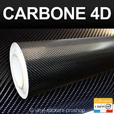 Carbone 4D Noir 150cm X 300cm Adhésif Tuning Rouleau 3M par 1,5M pour Covering
