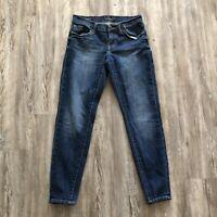 Lucky Brand women's sz 0 26 jeans skinny sienna cigarette stretch distressed
