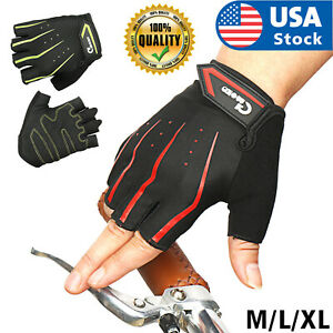 USA Cycling Gloves Half Finger Anti Slip Shockproof Bike Gloves  Summer Sports
