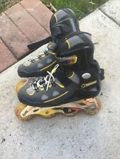 Talon 6000 Inline Skates Rollerblades Adult Size 9 ?  (Mens) Black and Yellow