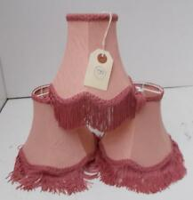 3 Stylish Pink Fabric Lampshades. 1st of 2 Lots #B