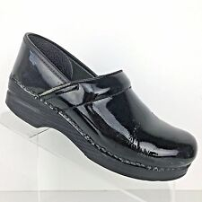 DANSKO Professional Clog Black Patent Leather Womens Shoe SIZE 38 / US 7.5 - 8