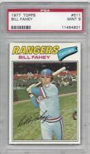 1977 Topps baseball card #511 Bill Fahey, Texas Rangers graded PSA 9 MINT