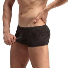 US STOCK Mens Sexy Underwear Aircraft Pants Thongs Boxer Briefs Underpants Pouch