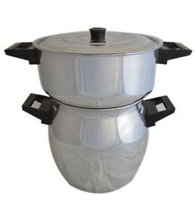 Couscoussier 6 Liter Moroccan Saucepan with Steamer Basket Insert couscous New
