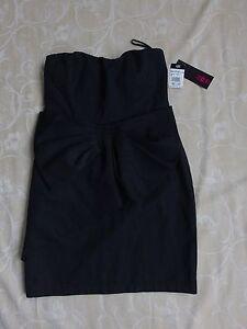 Ice Design Black Strapless Dress Women's Size S