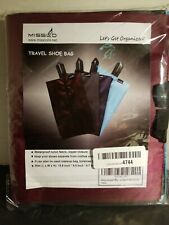 Travel Shoe Bags Pack Of 4 Mixed Colors