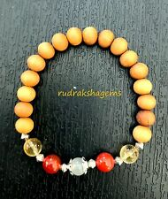 Sacral Chakra Bracelet Sandalwood Citrine Carnelian Moonstone Emotions Relation