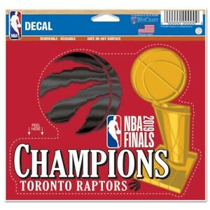 Toronto Raptors Wincraft 2019 NBA Champions Cut to Logo Decal FREE SHIP