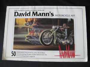 David Mann Signed 2X ,numbered Motorcycle Art Book 50  Masterpieces easy riders