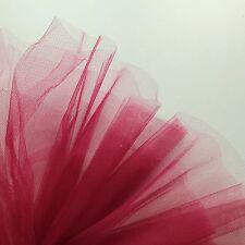 VINO Borgogna Rosso Scuro Tessuto Fine Tulle 300cm Wide-dalla M-Abiti da sposa Prom