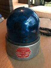 Federal Sign & Signal Beacon Ray Model 15 12V Police Blue Light Bubble Dome