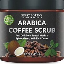 100% Natural Arabica Coffee Scrub 12 oz. with Organic Coffee Coconut and Shea...