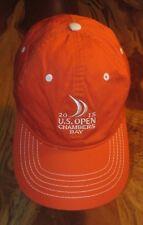 2015 U.S. Open Chamber Bay Golf Mens Baseball Cap, Hat, Orange, One Size, EUC