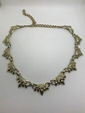 Vintage Coro Gold Tone Geometric Drop Necklace Choker Bold Statement 80' 80ties