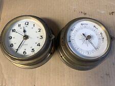 Marine Quartz Clock And Barometer Set, Made In Germany