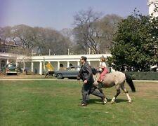 Caroline Kennedy rides her pony Macaroni on the White House lawn New 8x10 Photo