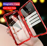 For iPhone 11 XR Max 6 7 8 Plus Magnetic Adsorption Double Side Glass Case Cover