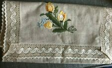 decorative linen for side table - lovely floral pattern - from Europe