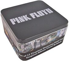 Pink Floyd LP covers set of 12 coasters in a presentation tin (hb)