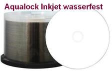 50 Stück Aqualock Glossy CD-Rohlinge 700MB/52x weiss Inkjet wasserfest Cakebox