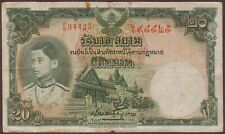 THAILAND  Government of SIAM   20 Baht   ND (1939)