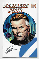 Fantastic Four #570 Marvel Comics 2009 Variant Cover Signed Jonathan Hickman