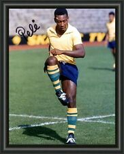 PELE SOCCER LEGEND A4 SIGNED AUTOGRAPHED PHOTO POSTER  FREE POST