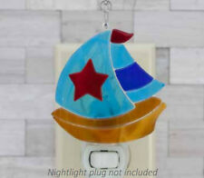 Fused Sailboat Switchables Stained Glass  SF541