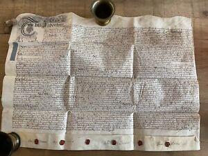 King George II 1734 Vellum Indenture (Bedfordshire)