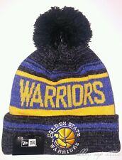 Golden State Warriors New Era Hardwood Classics Snow Dayz Knit Pom Beanie Hat