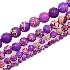 4mm 6mm 8mm 10mm Natural Sea Sediment Jasper Round Beads 16'' Strand