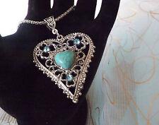 Modeschmuck-Halsketten & -Anhänger mit Türkis und Herz für Damen