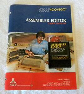 Atari Assembler Editor Cartridge & Manual 400/800/1200XL/130XE/551 FREE SHIPPING