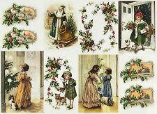 Carta DI RISO PER DECOUPAGE SCRAPBOOKING sheetscraft Vintage Natale