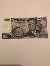 LANZ Banknote Österreich 1000 Schilling Wie Neu! 1983 Schrödinger Physik ØARL863