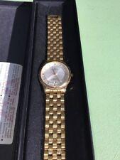 Dugena Herren Armbanduhr mit Goldfarbenen Armband,Datum,Wasserfest 50M in OVP