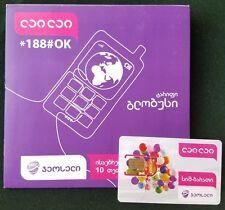 PLASTIC CARD GEORGIAN GEOCELL GEORGIA PHONECARD TELEPHONE CARD SIM UNUSED GRUZIA
