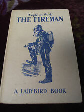 VTG 1960s LADYBIRD EASY READING PEOPLE AT WORK THE FIREMAN BOOK Series 606B