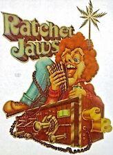 Original Vintage Ratchet Jaws Cb Radio Iron On Transfer Trucker