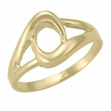10k Yellow Gold Ring with Fancy Circle Design (NEW band, 2.9g) #1983