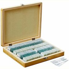 Prepared Microscope Slide Set 100 Basic Biological Science Education Case Inc A
