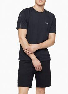 Calvin Klein Men's Athleisure Logo Crewneck T-Shirt, Black, MED