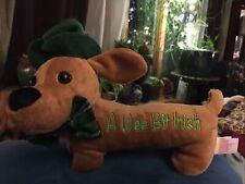 """St. Patrick's Shamrock Hat Weiner Dog plush 10"""" Dachshund Dandee~A Wee Bit Irish"""