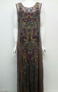 BIYA by Johnny Was Embroidered Piele Mesh Dress w Slip - L - JW87071220