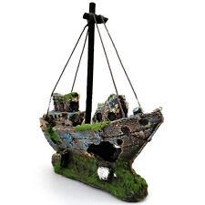 Aquarium Decoration Ornament Sailing Boat Ship Destroyer Fish Tank Decor MW