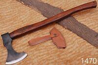 HIGH CORBAN STEEL  Axe HATCHET TOMAHAWK AXE W/ Rose Wood Handle-1470