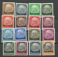 German Third Reich Stamps --     Hindenburg Luxemburg  Set  - Hinged